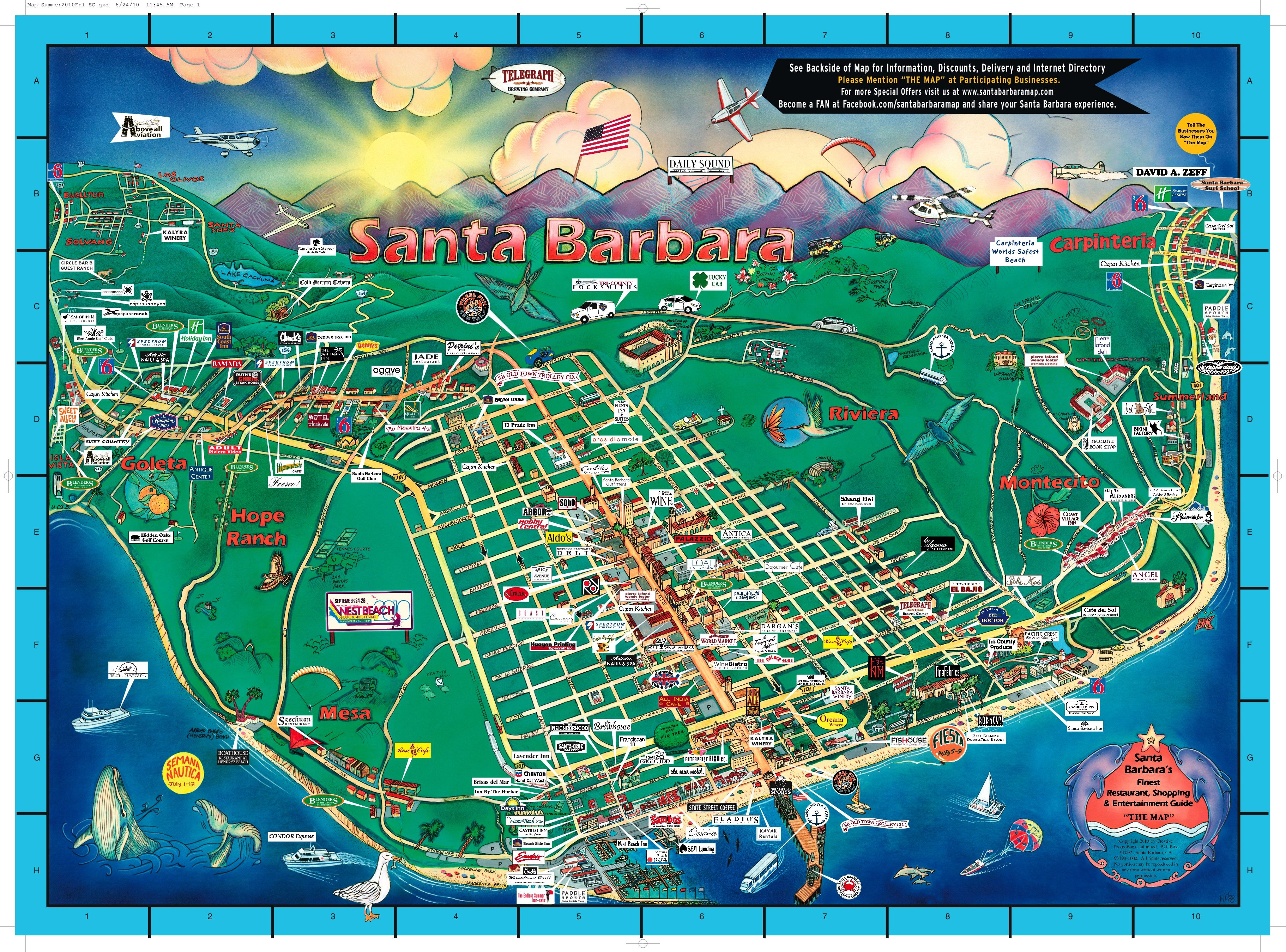 The Map' Celetes 25 Years - The Santa Barbara Independent Map Direct on