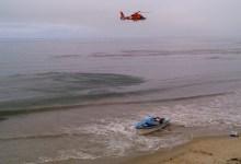 Motorist Spots Panga on Tajiguas Beach