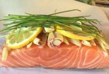 Lemongrass Salmon En Papillote