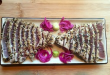 Sesame-Crusted Ahi with Pickled Fennel, Wasabi, and Lemongrass