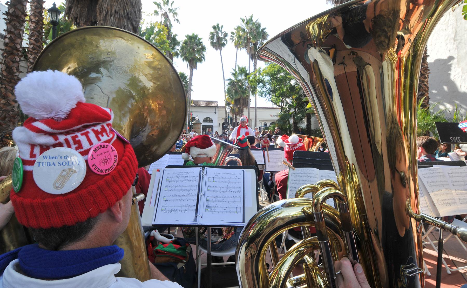 Image result for tuba christmas santa barbara