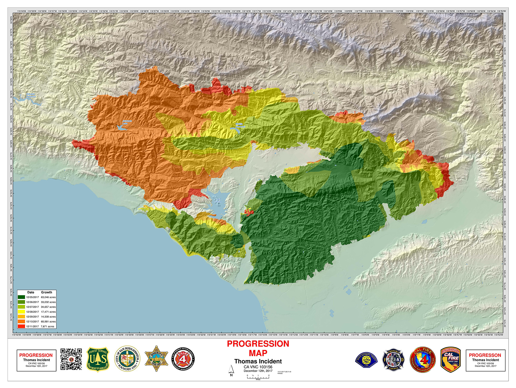 Thomas Fire Map Update Why a Good Thomas Fire Map Was Hard to Find   The Santa Barbara