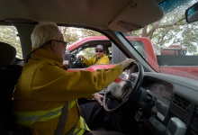 Riding Along with Chief Pat McElroy, Surveying the Thomas Fire Damage