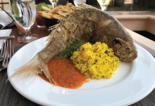 Whole Fried Snapper @ Rodney's Grill