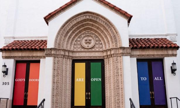 Rainbow Doors Appear at First United Methodist