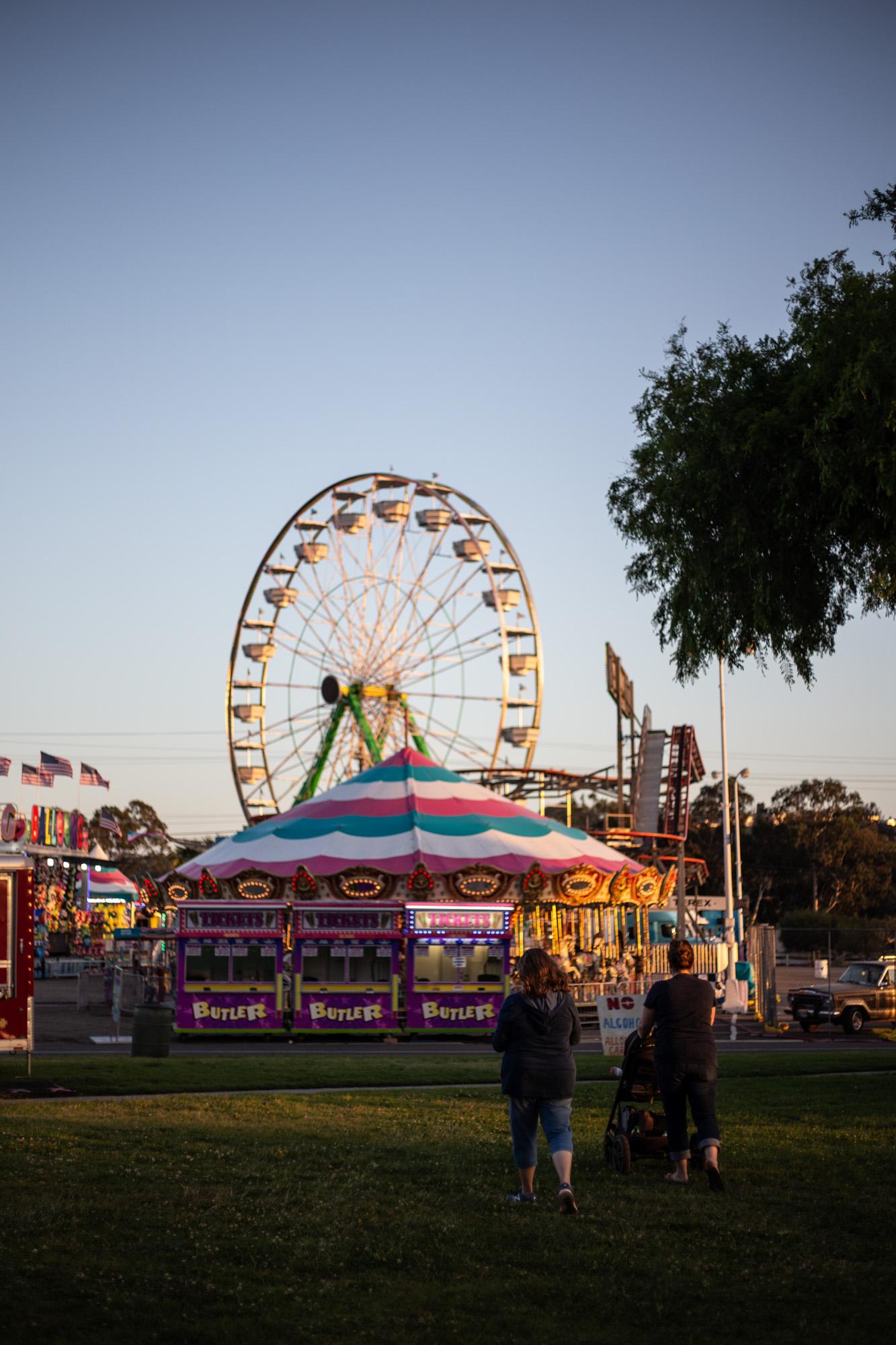 Fair-goers exploring the 2019 Santa Barbara Fair & Expo Preview at the Earl Warren Showgrounds