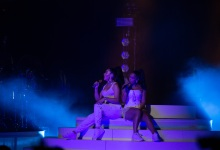 Kali Uchis and Jorja Smith at the Bowl
