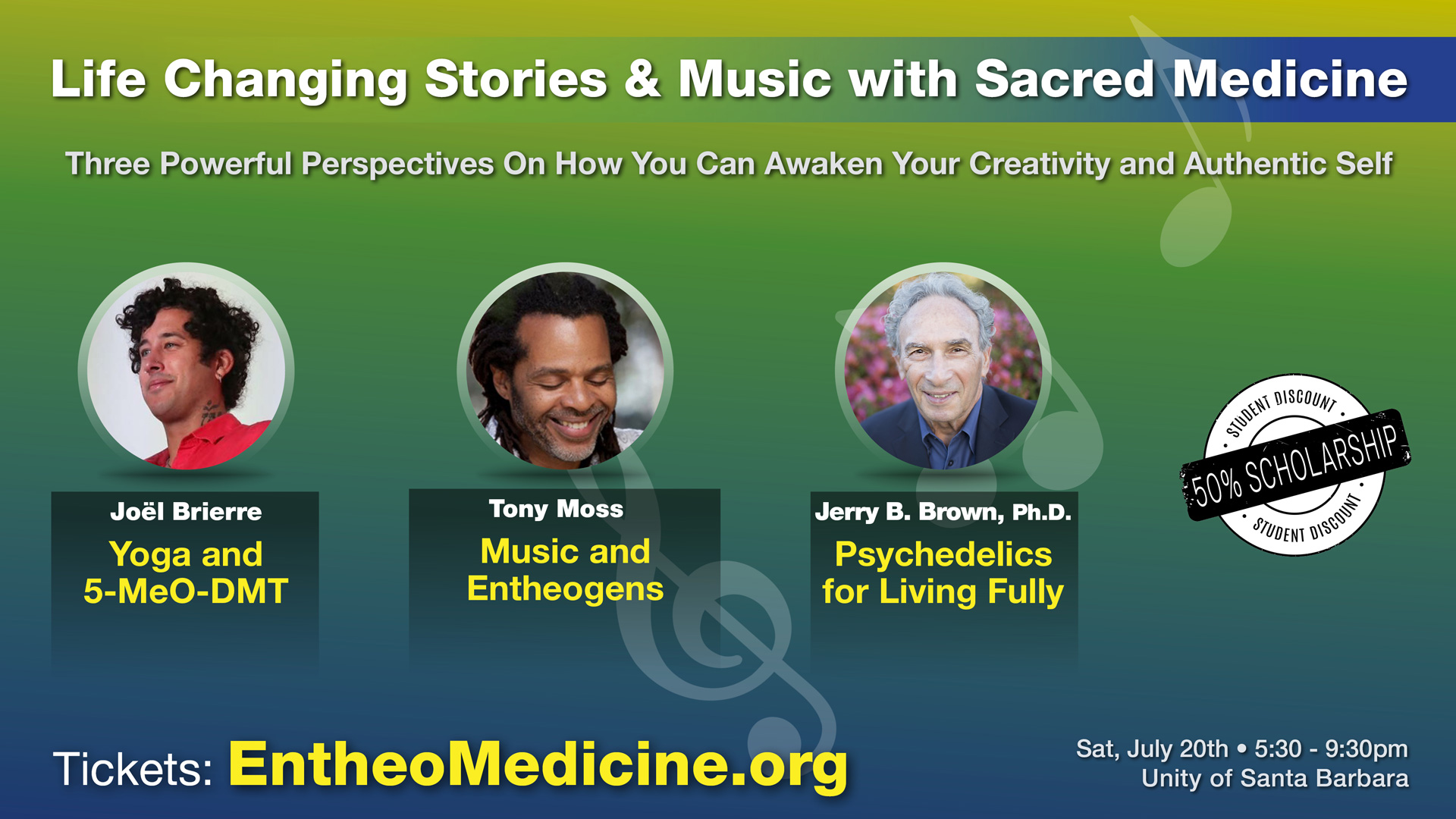 An Evening of Life Changing Stories & Music with Sacred Medicine