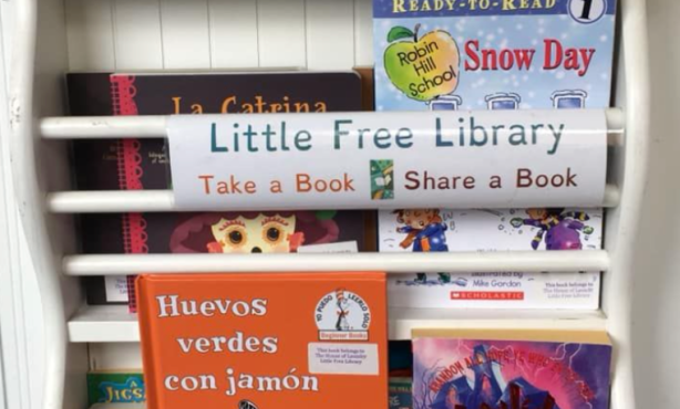 Local Book Club Launches Little Free Laundromat Library for Children