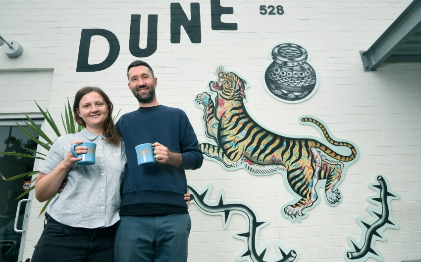 The French Press Is Now Dune Coffee Roasters