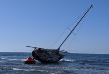 Sailboat Stranded for Nine Days in Marine Protected Area of Coal Oil Point Reserve