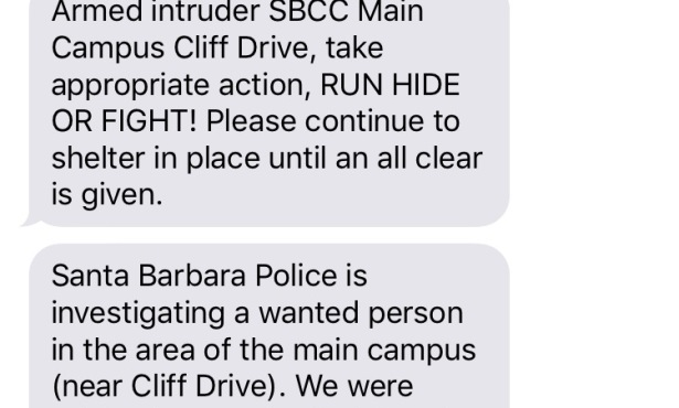 Lockdown Being Lifted at SBCC; Intruder Detained