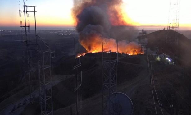 Smoke from Maria Fire Rolls into Santa Barbara