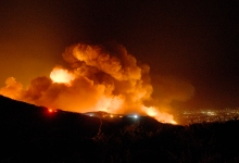 Santa Barbara's Cave Fire Tuesday Update