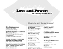 Love and Power: An Evening of One Acts
