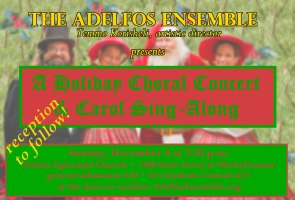 Adelfos Ensemble: Holiday concert and sing-along