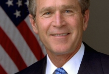 George W. Bush Slips In and Out of Town as Poodle Naps