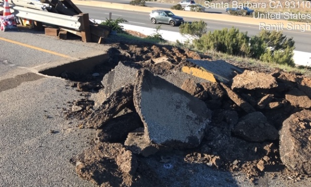 Turnpike Sinkhole Under Repair