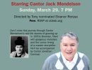 Cantorial Concert with Cantor Jack Mendelson