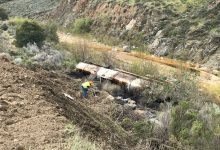 Tanker Spills over 4,000 Gallons of Crude Oil into Cuyama River