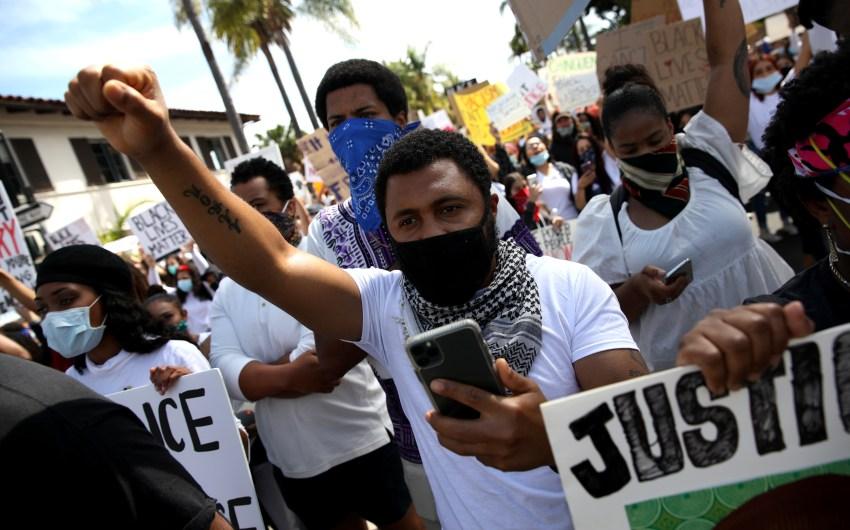 Protest Talk Covered in Santa Barbara County's COVID Update