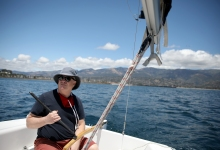 Sailing Away from Santa Barbara Harbor in a Pandemic
