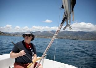Sailing Away from Santa Barbara Harbor in a Pandemic