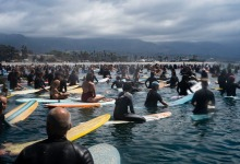 Santa Barbara Surfers Paddle Out to Pay Tribute to Victims of Police Brutality