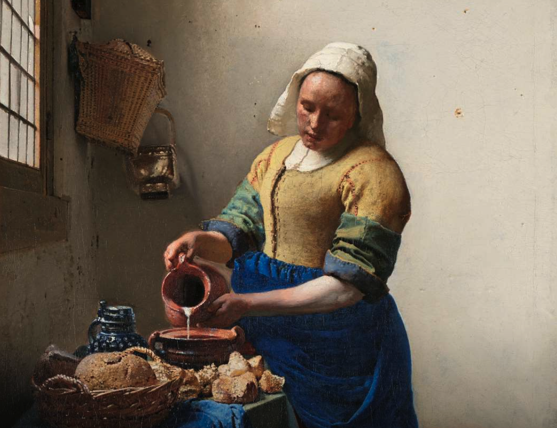 Vermeer Milk Maid Art