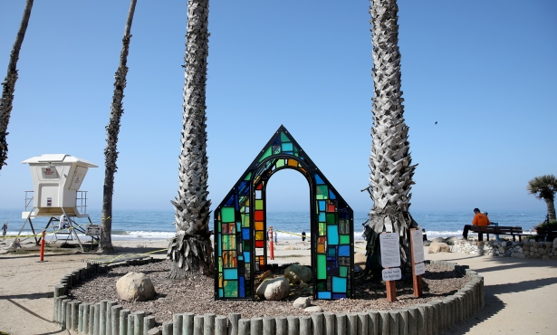 Tom Fruin's 'Camouflage House' at Arroyo Burro
