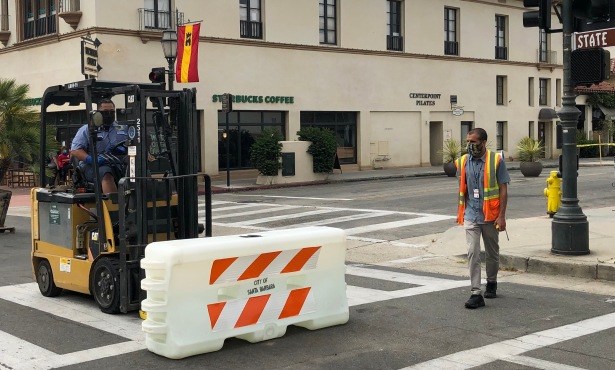 Santa Barbara Motorists Navigate Unusual New Traffic Patterns