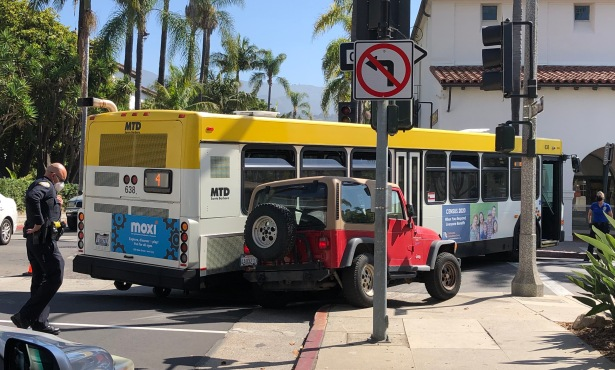 Bus Crash Closes Anacapa Street at Figueroa