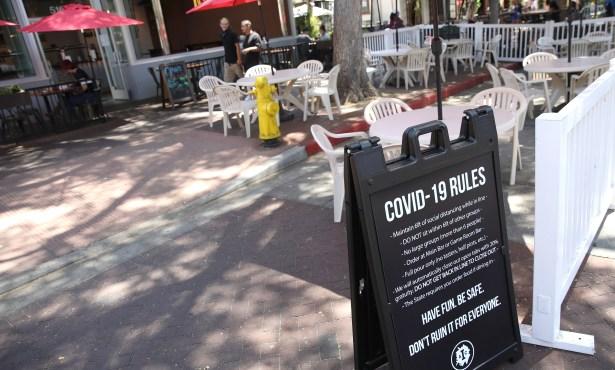 Downtown Santa Barbara Mask Enforcement: Day One