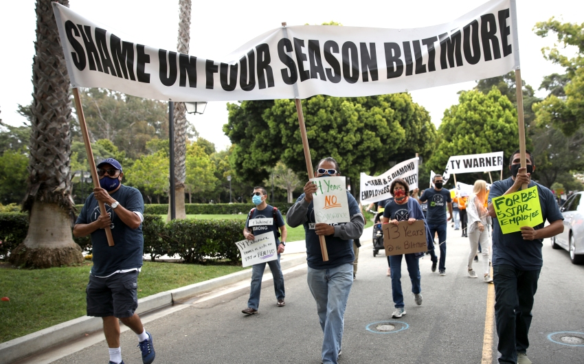 Big Turnout for Biltmore Protest Against Ty Warner, Four Seasons