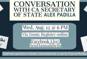 Conversation with CA Secretary of State Alex Padilla