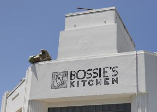 Bossy the Cow Gets Tipped on Milpas Street