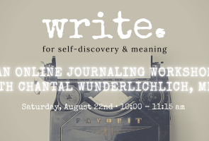 Write for Self-Discovery and Meaning
