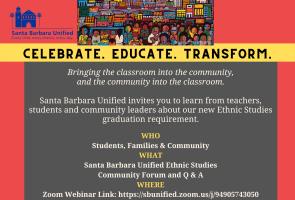 SB Unified Ethnic Studies Community Forum/Estudios  Étnicos Foro Comunitario