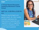 Montessori Center School Hosts Free Parent Webinar