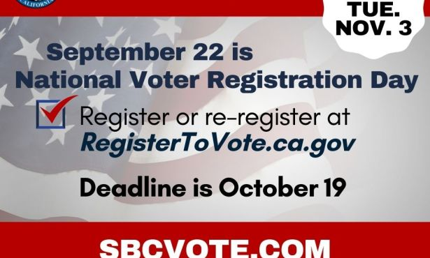 Tomorrow is National Voter Registration Day, September 22