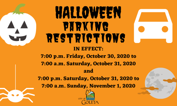 Halloween Parking Restrictions Return in Select Goleta Neighborhoods