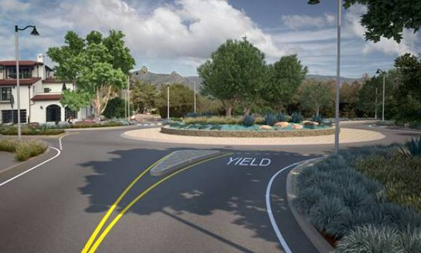 Cars Are Basic Takes on Olive Mill Road Roundabout; Roundabout Wins