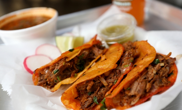 Yona Redz Serving Birria Quesatacos on State Street