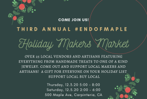 Annual End of Maple Holiday Makers Market