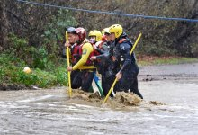 Crew Rescues Woman Trapped Between Flooded Creek Crossings