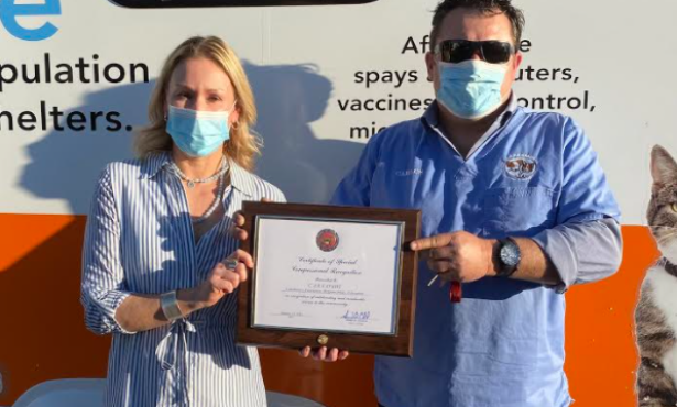 C.A.R.E.4Paws' Receives Congressional Recognition for its Work in Santa Barbara County since 2009 and for its Unprecedented Support for Animals and Pet Owners in Need through the Pandemic