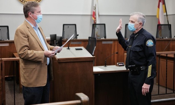 Barney Melekian Sworn In as Interim Police Chief