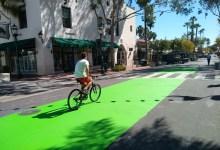 Seeing Green over Santa Barbara Bike Lanes