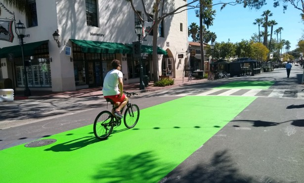 Seeing Green over Santa Barbara Bike Lanes