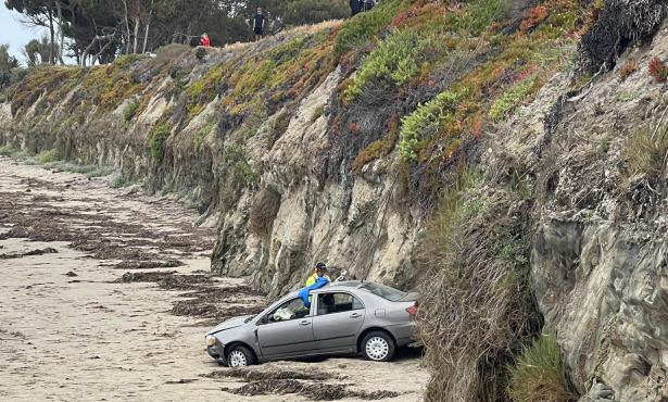 Man Drives Off 30-Foot Cliff in Isla Vista